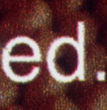 Текст «ed» напечатан на плоттере Mimaki JV3-160SP
