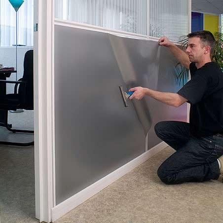 Как сделать стекло непрозрачным